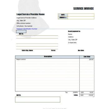 service invoice template 49