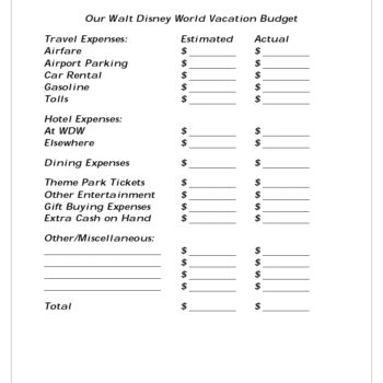 36 Travel Budget Templates & Vacation Budget Planners