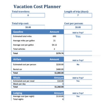 travel budget template 24