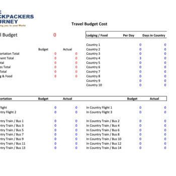 travel budget template 29
