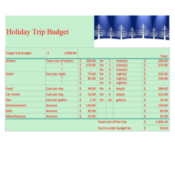 travel budget template 32