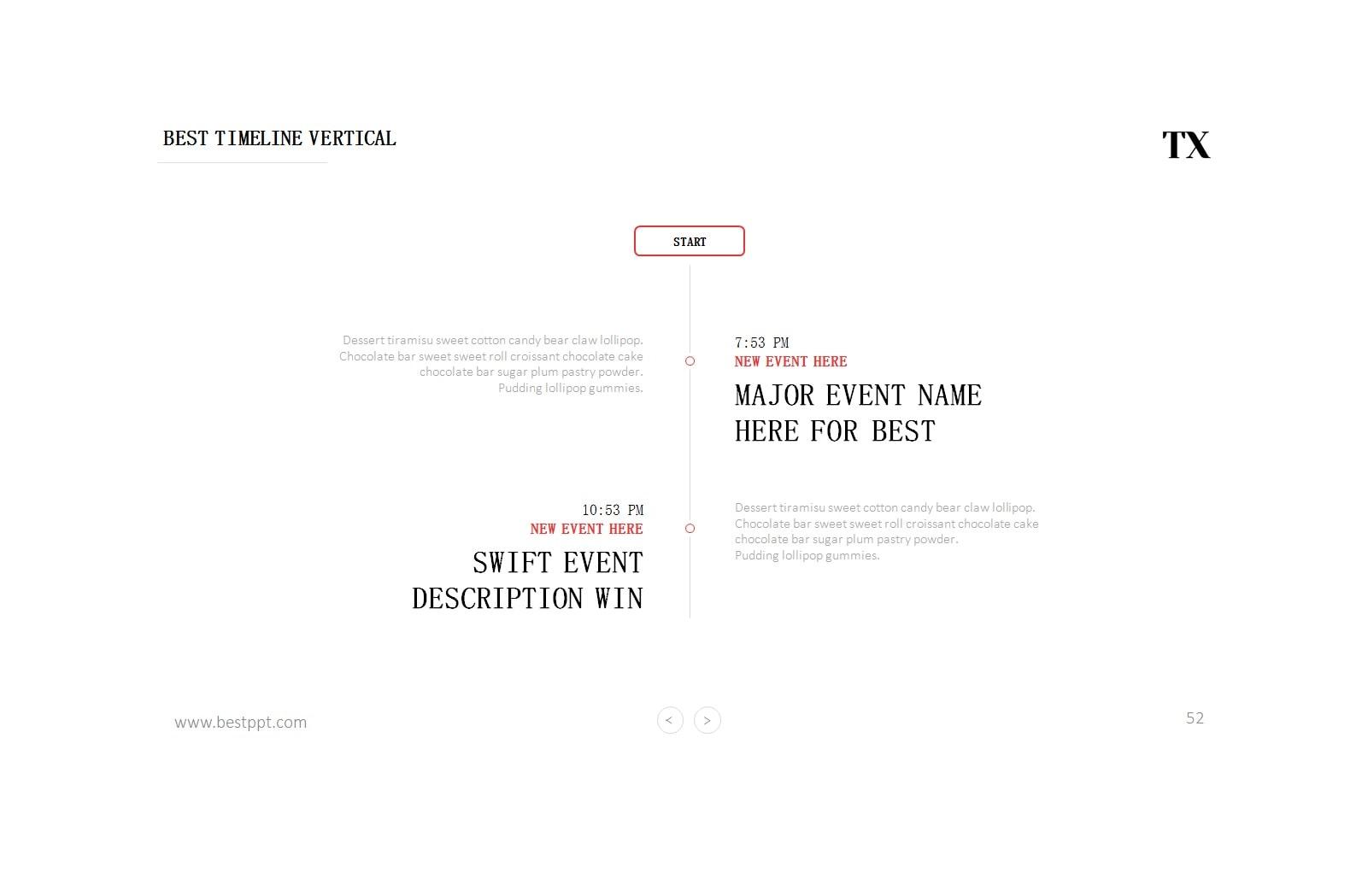 vertical timeline 34
