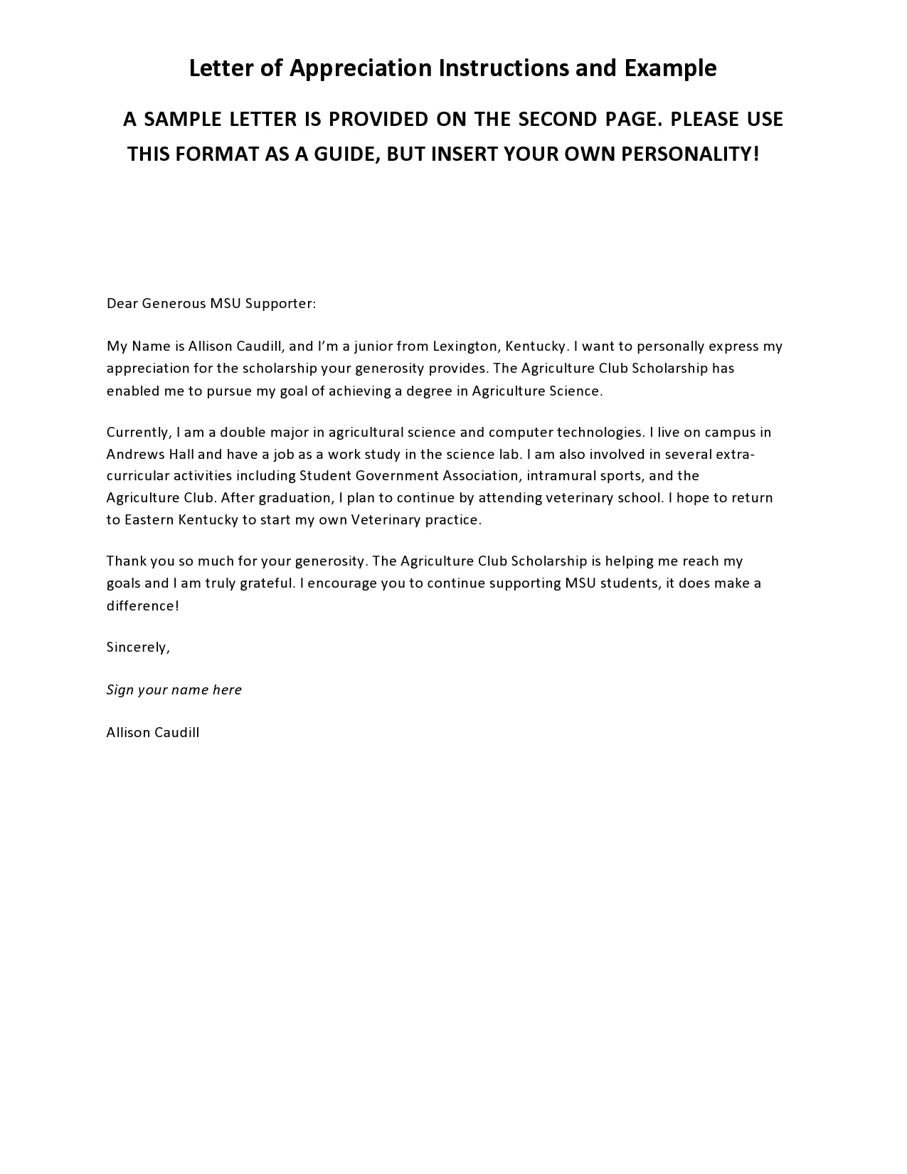 Format Of A Thank You Letter from templatearchive.com