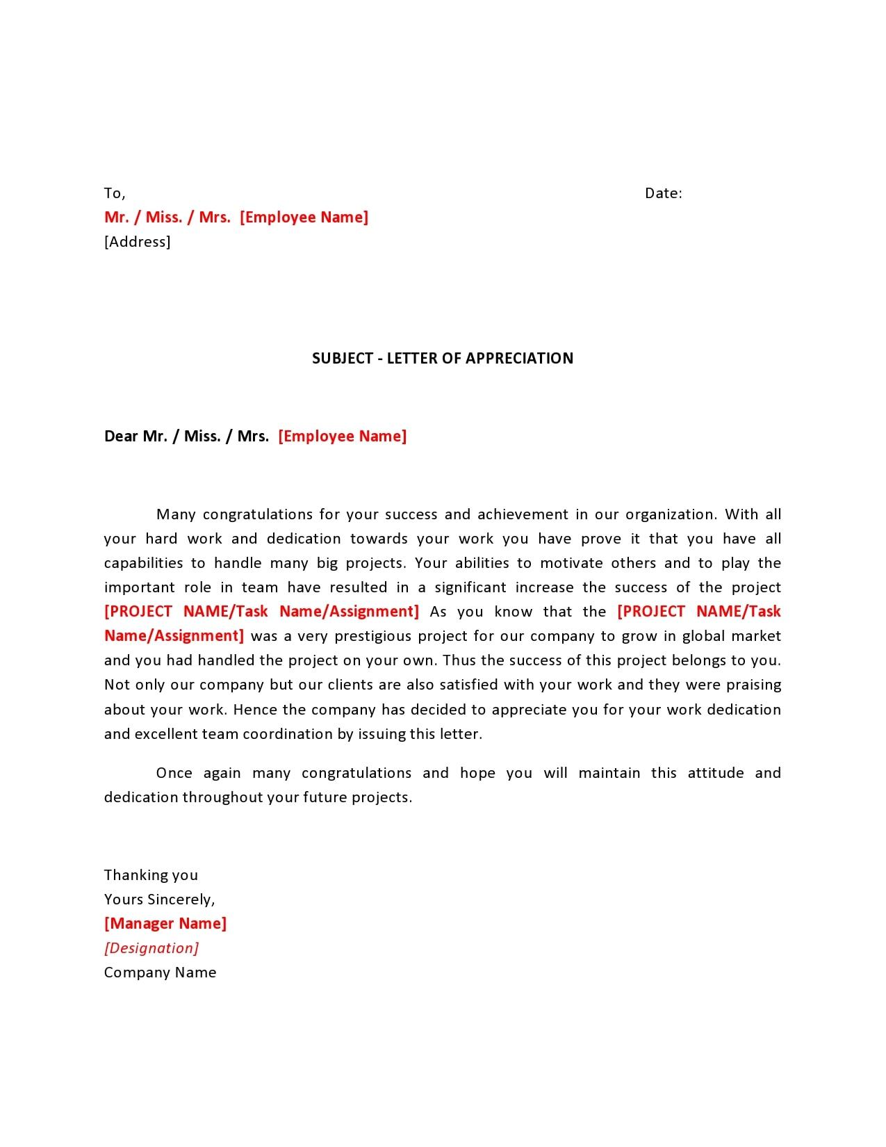 appreciation letter 23