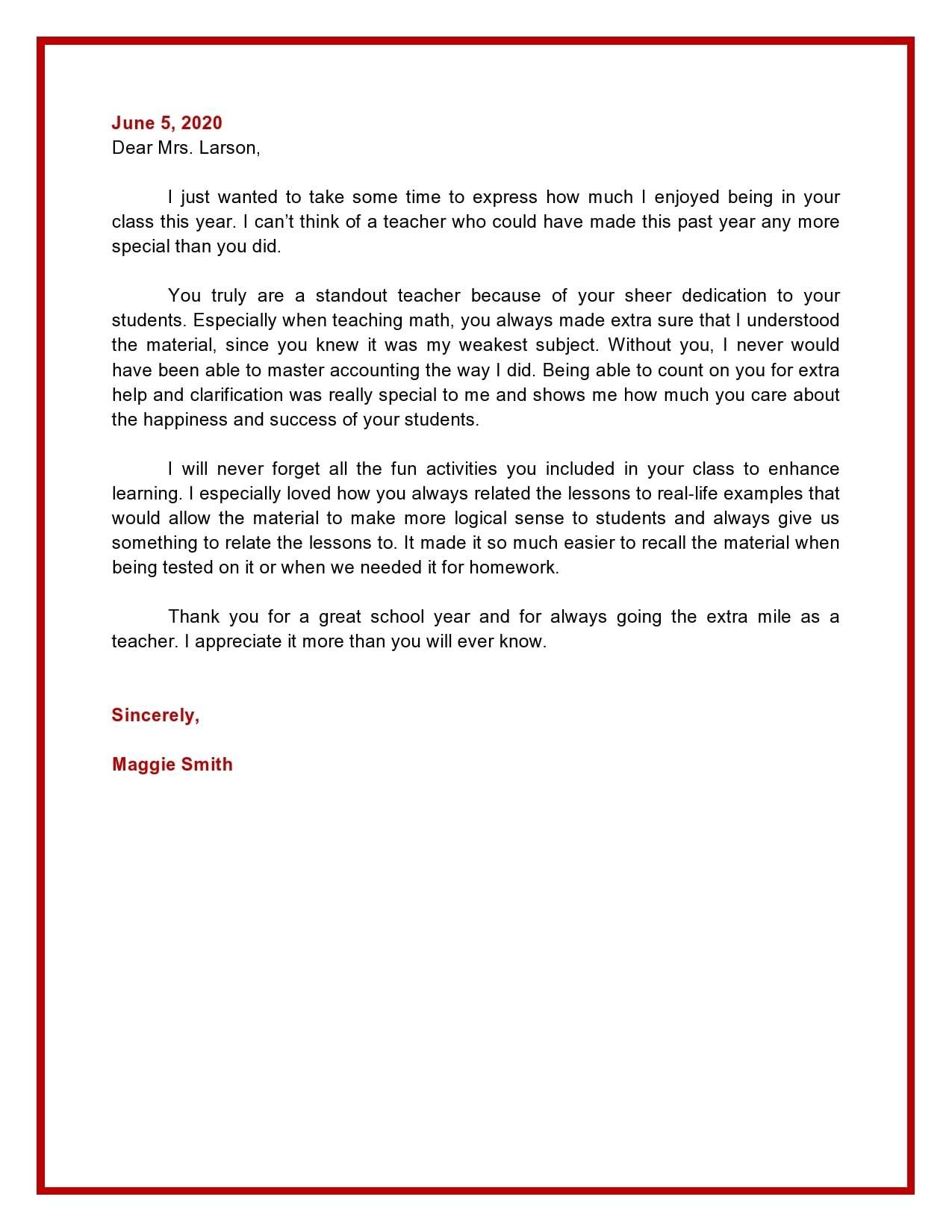 appreciation letter 25
