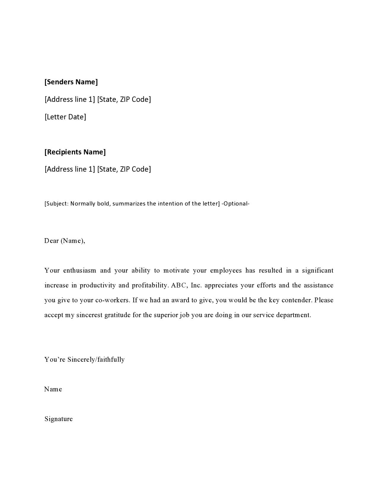 appreciation letter 43