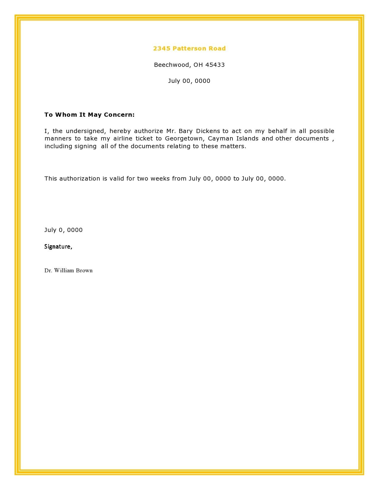 authorization letter 06