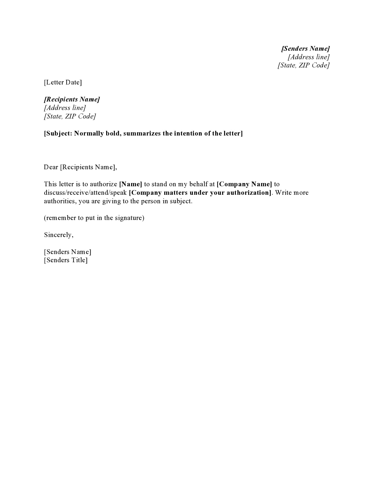 Letter Giving Permission To Act On My Behalf For Child from templatearchive.com