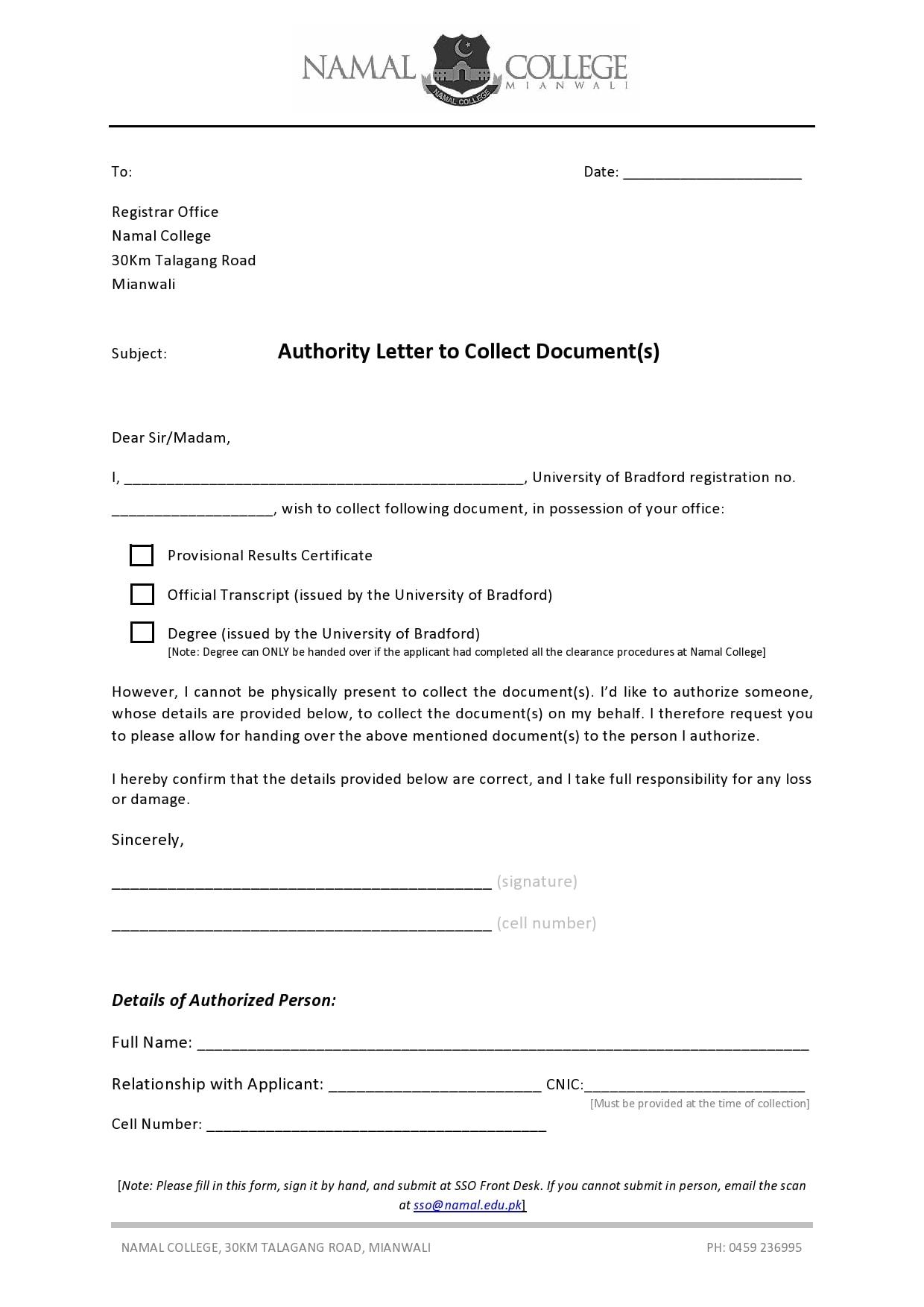 authorization letter 10