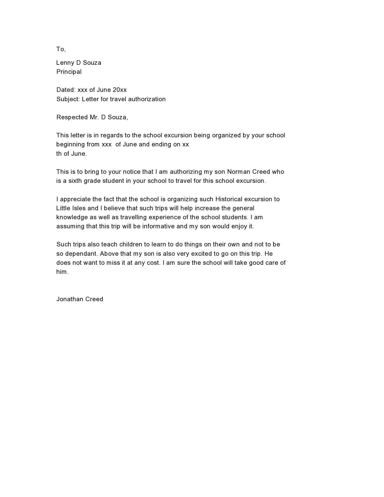 authorization letter 15