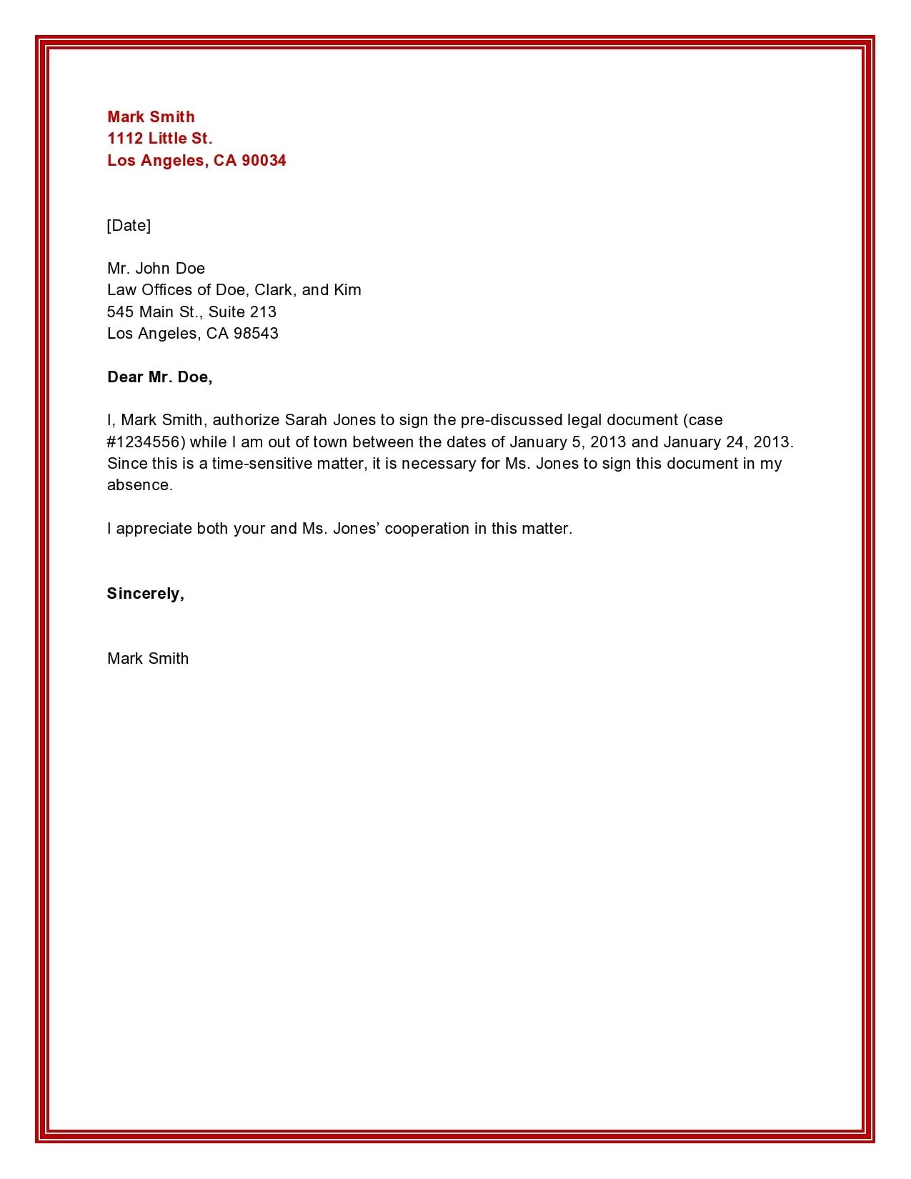 authorization letter 18