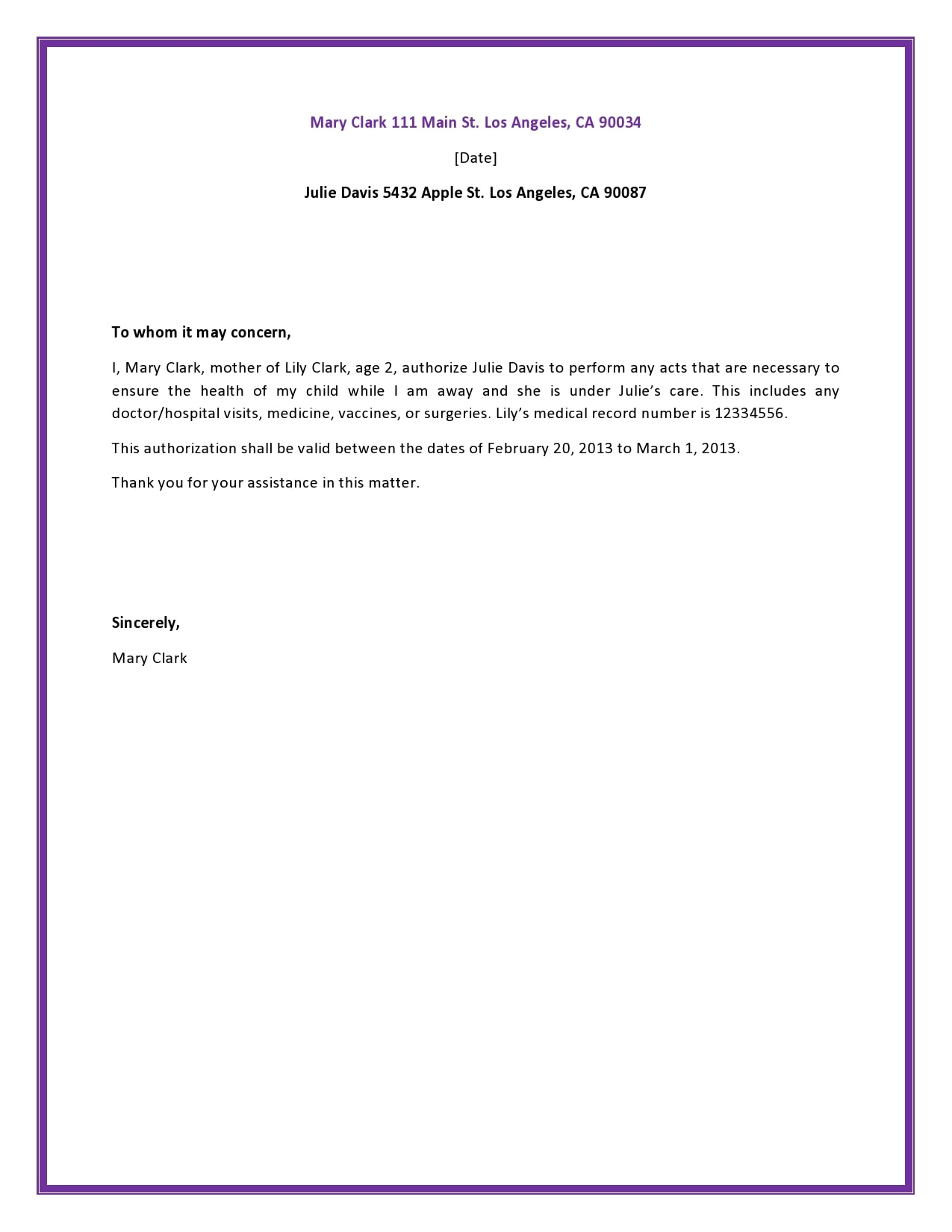 authorization letter 19