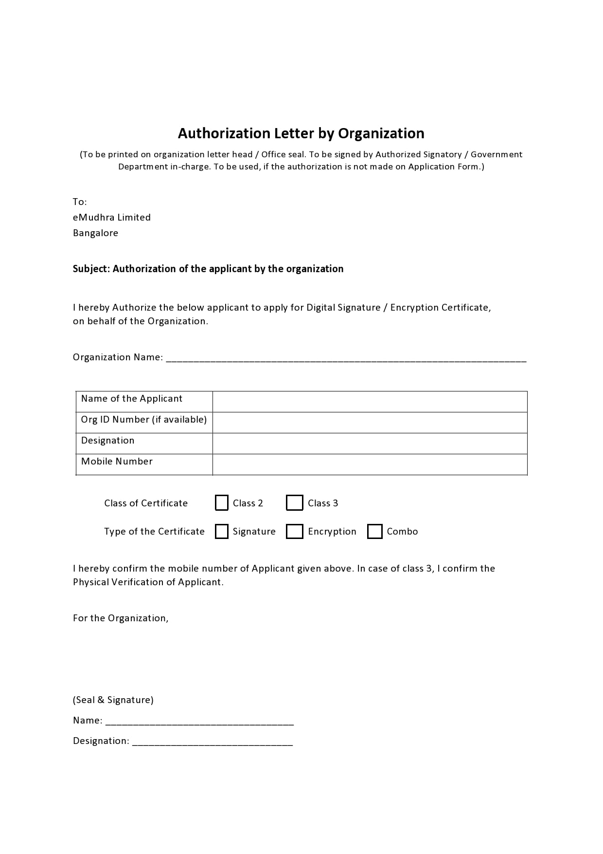 Letter Of Permission And Authorization from templatearchive.com