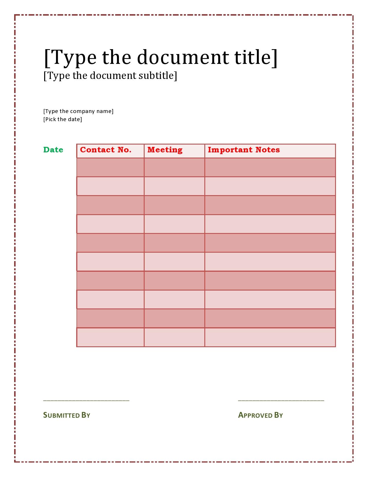 call sheet template 17
