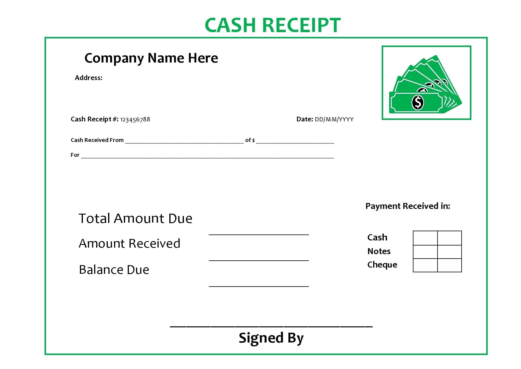 cash receipt 07