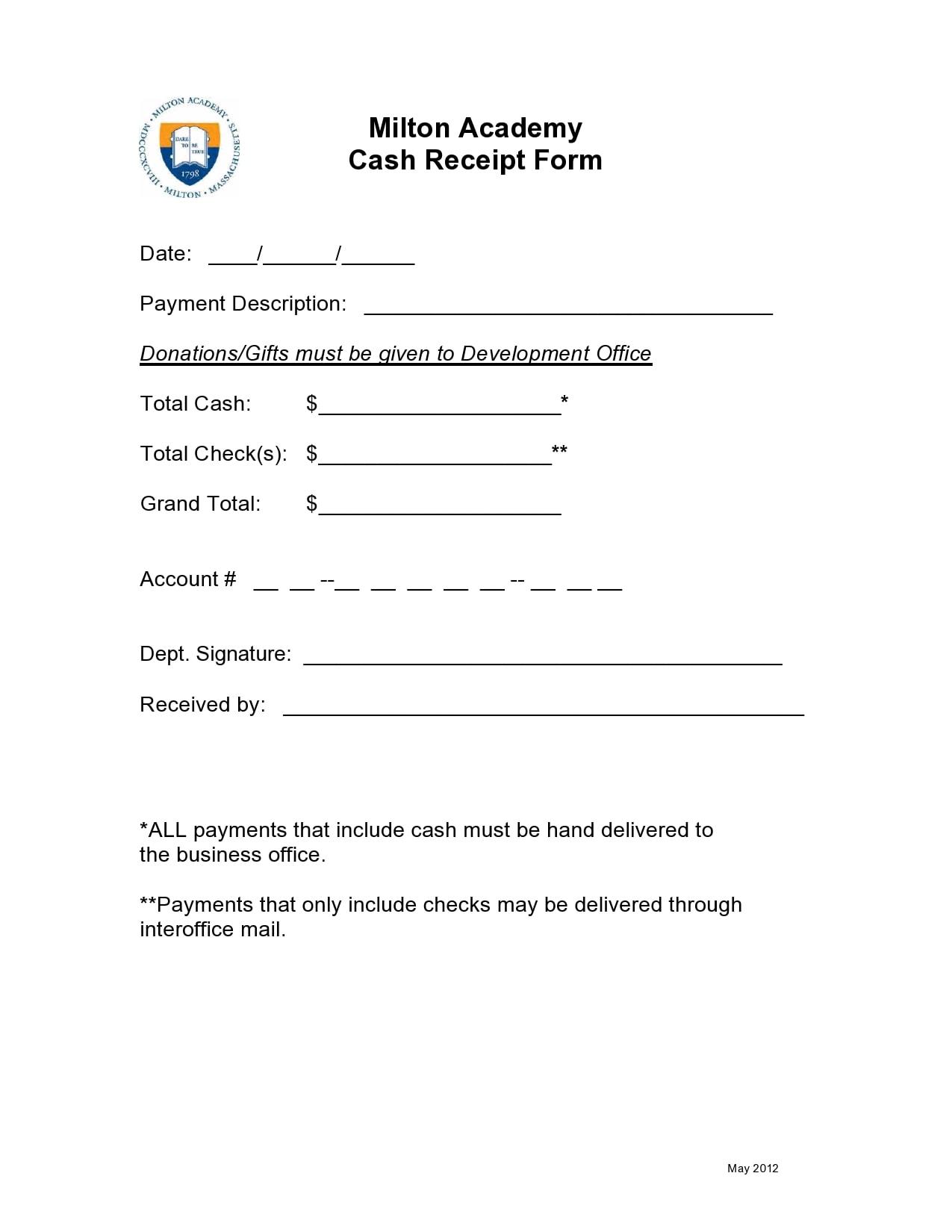 cash receipt 19