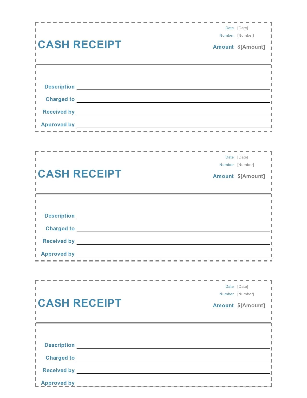 cash receipt 25