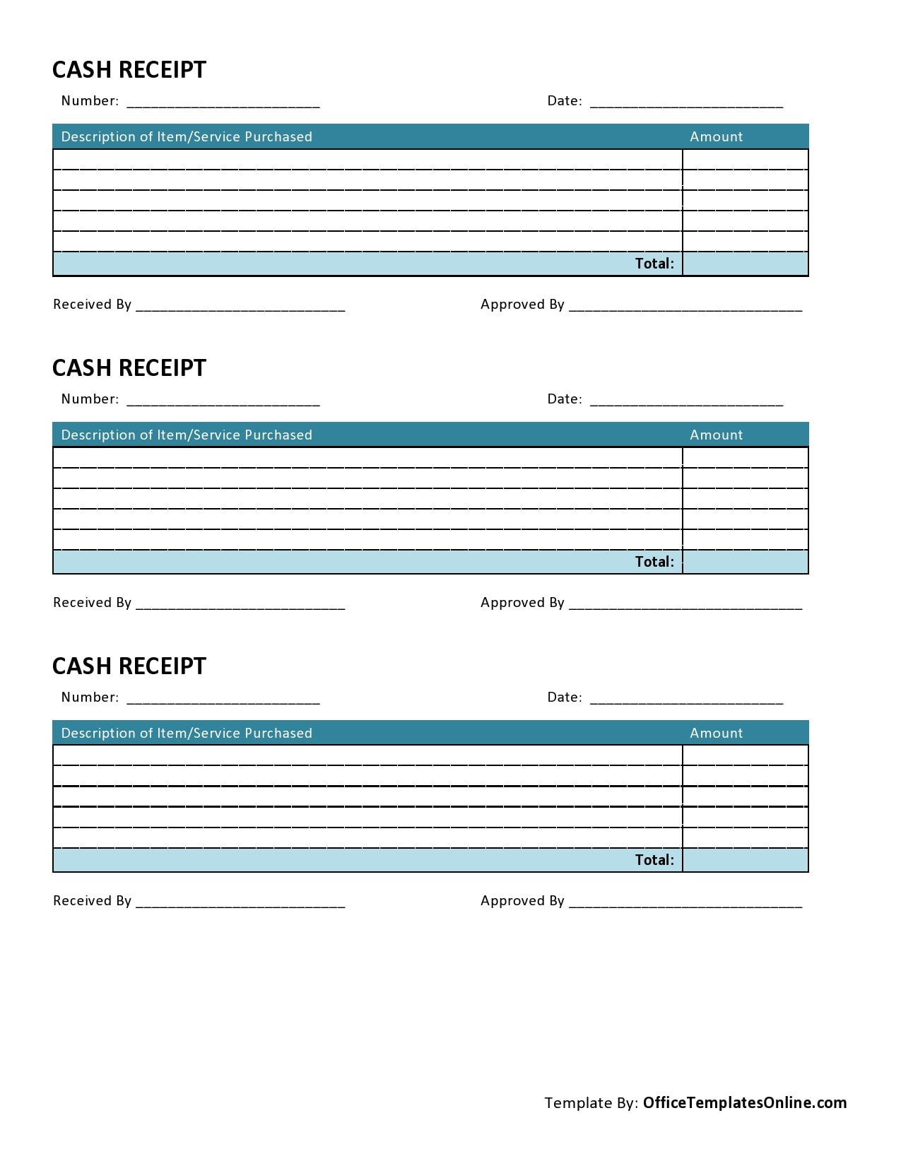 cash receipt 28
