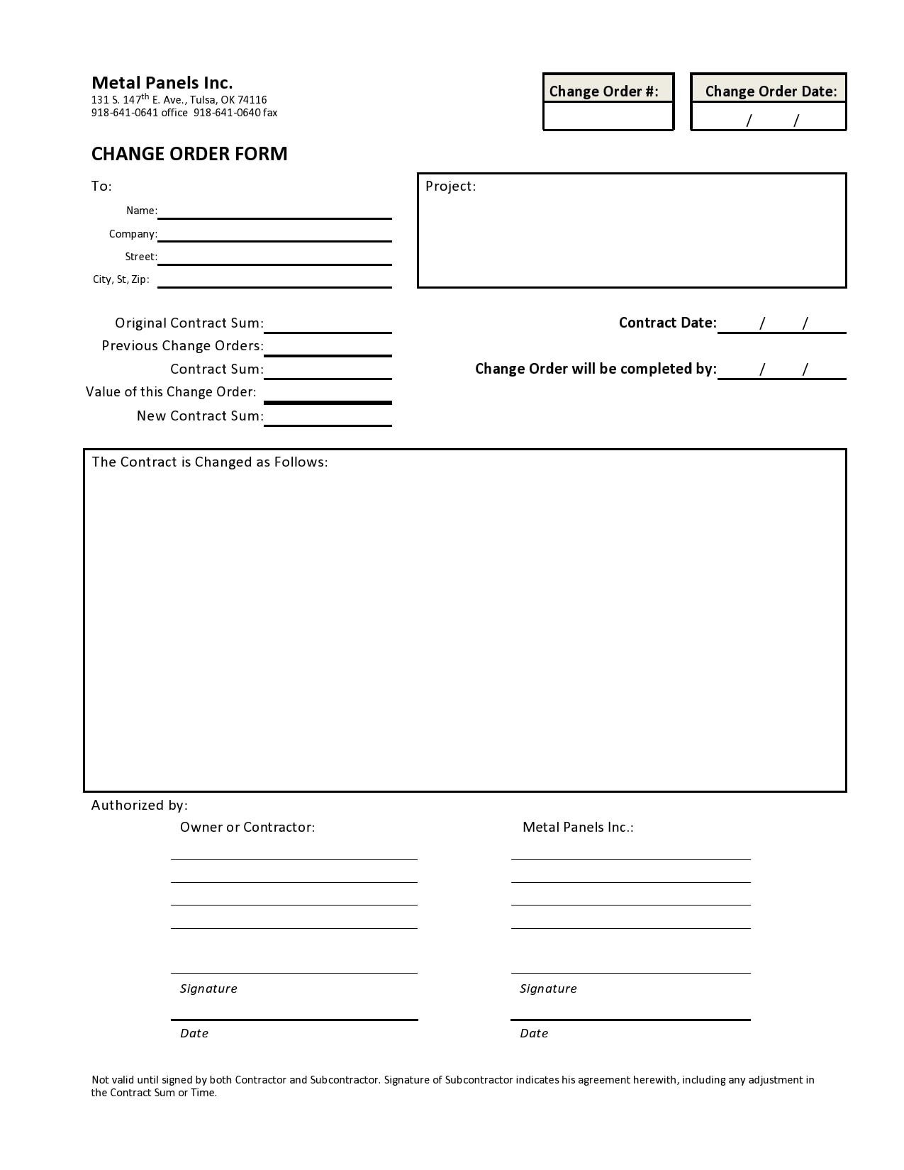 change order template 03