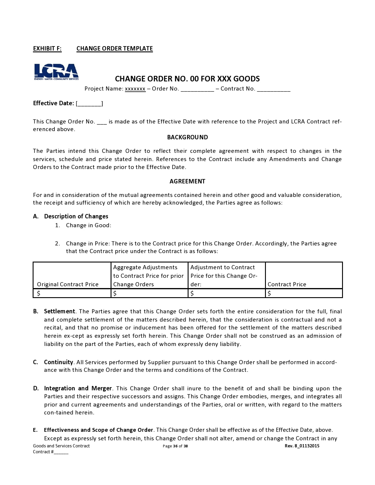 change order template 20