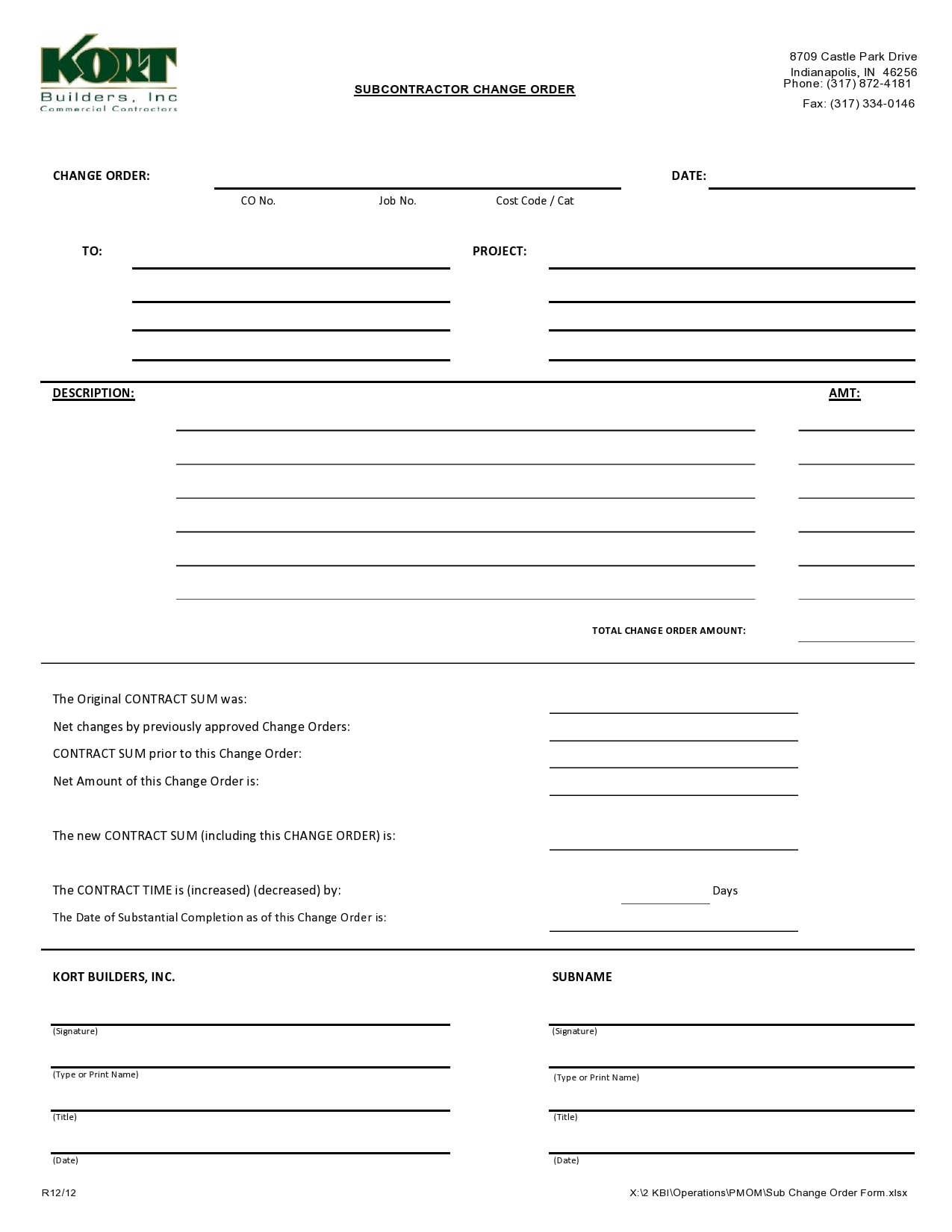 change order template 31