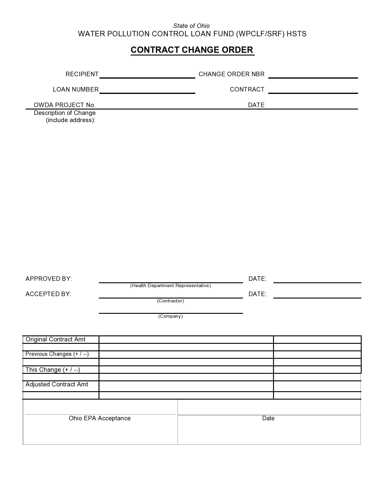 change order template 41