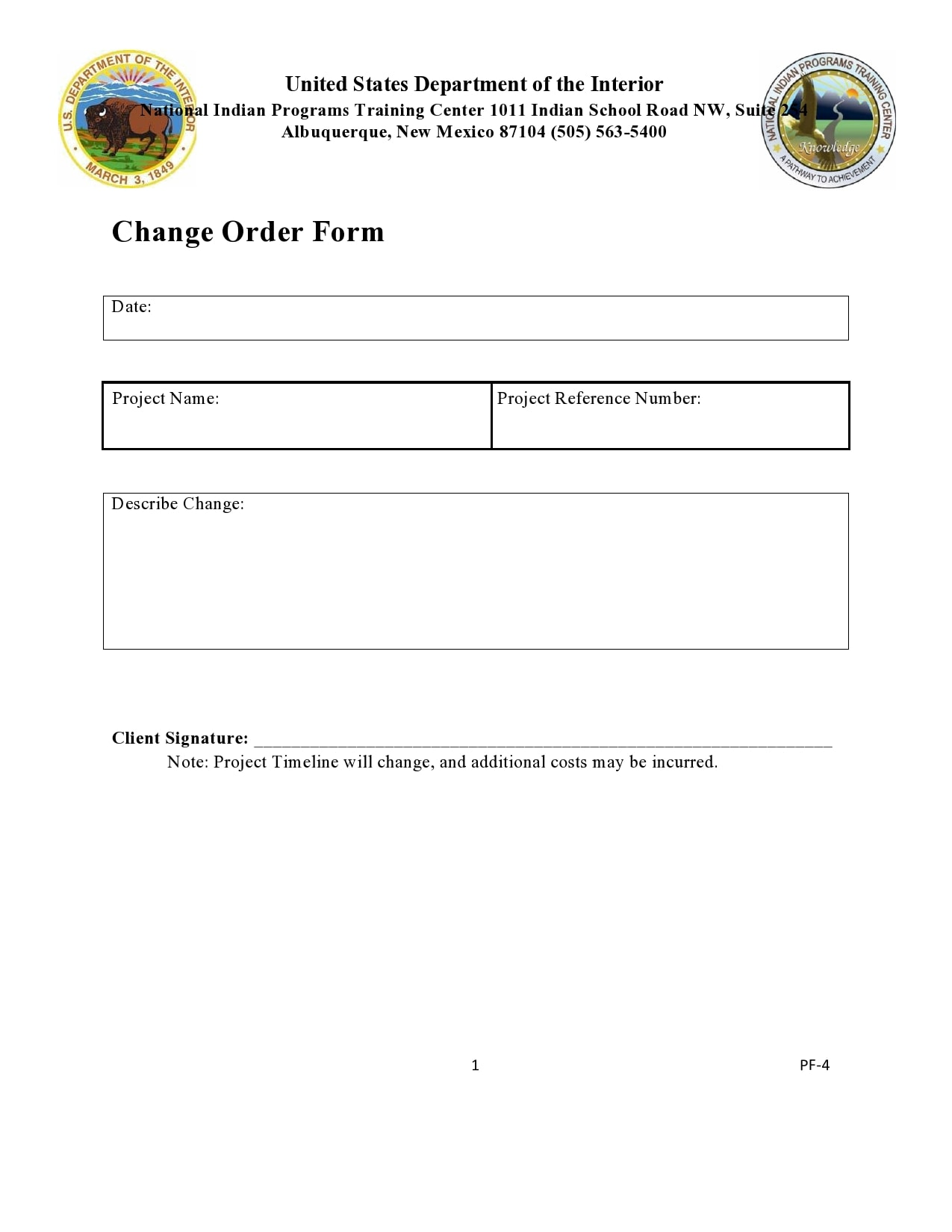 change order template 44