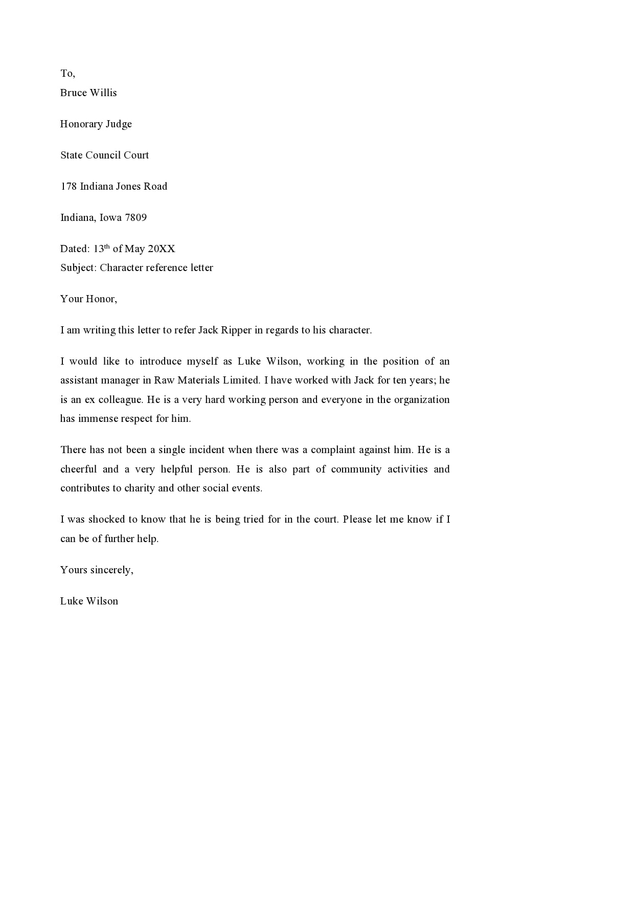 Sample Character Reference Letter For Immigration Court from templatearchive.com