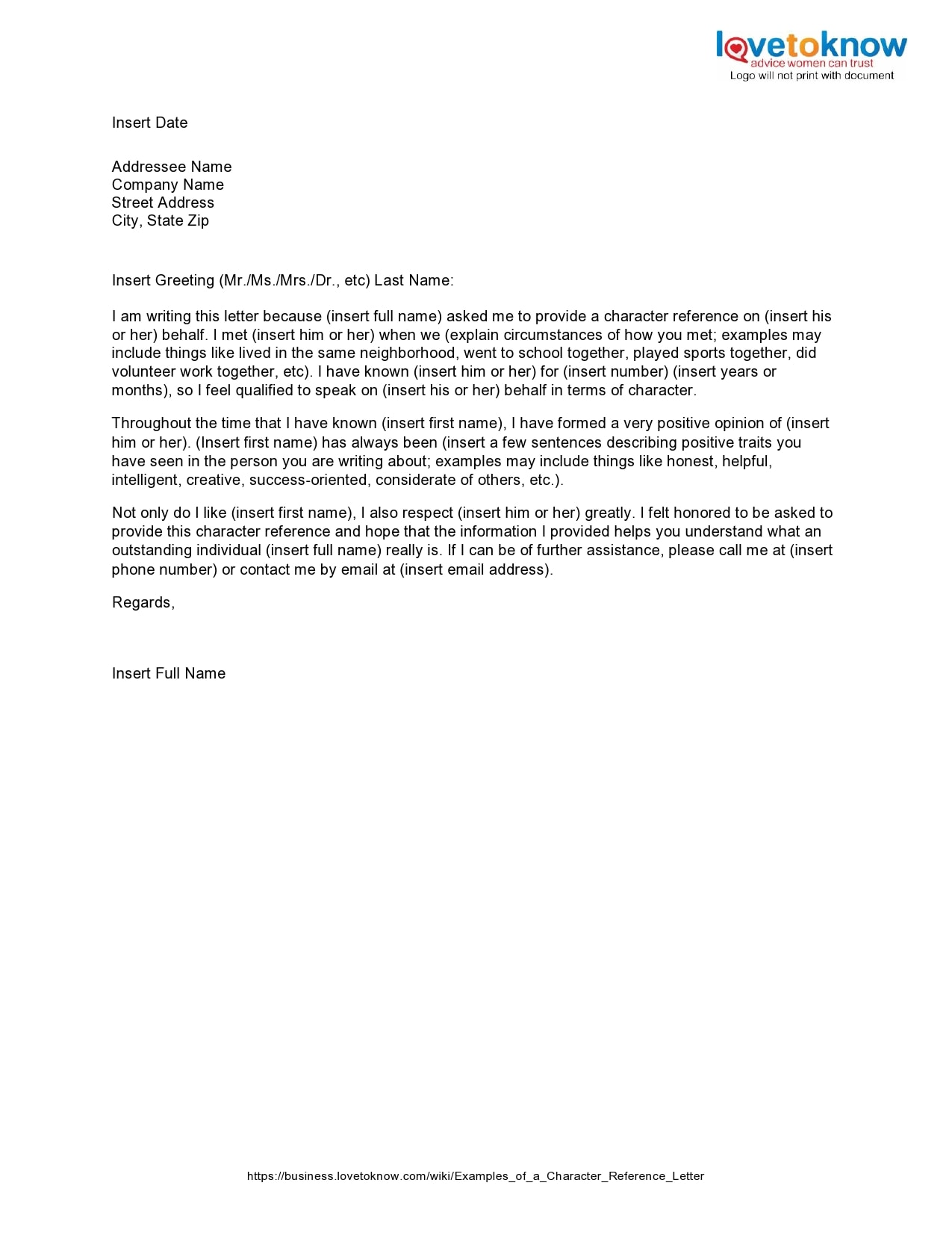 character reference letter 07
