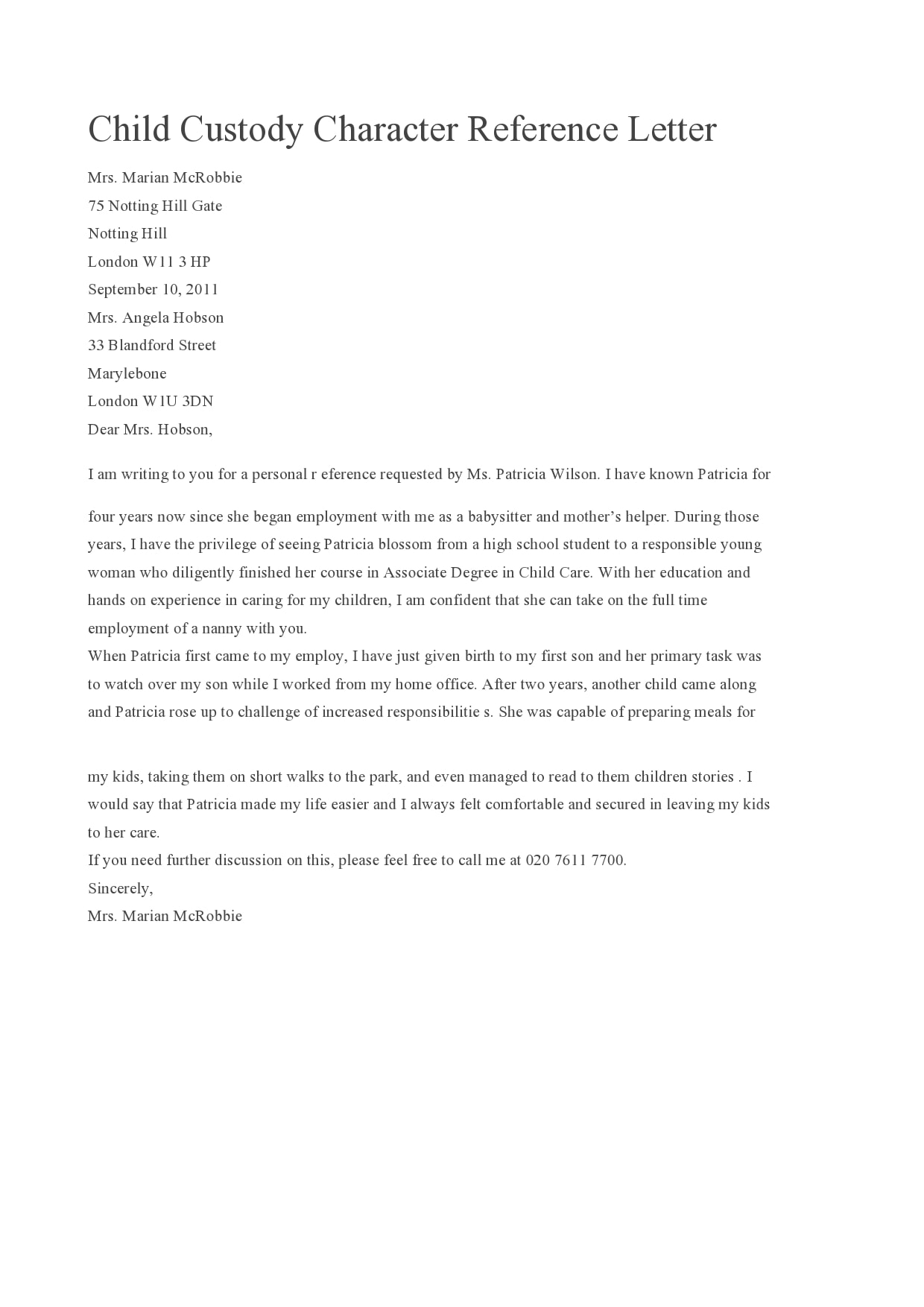 Reference Letter For Child Care Teacher from templatearchive.com