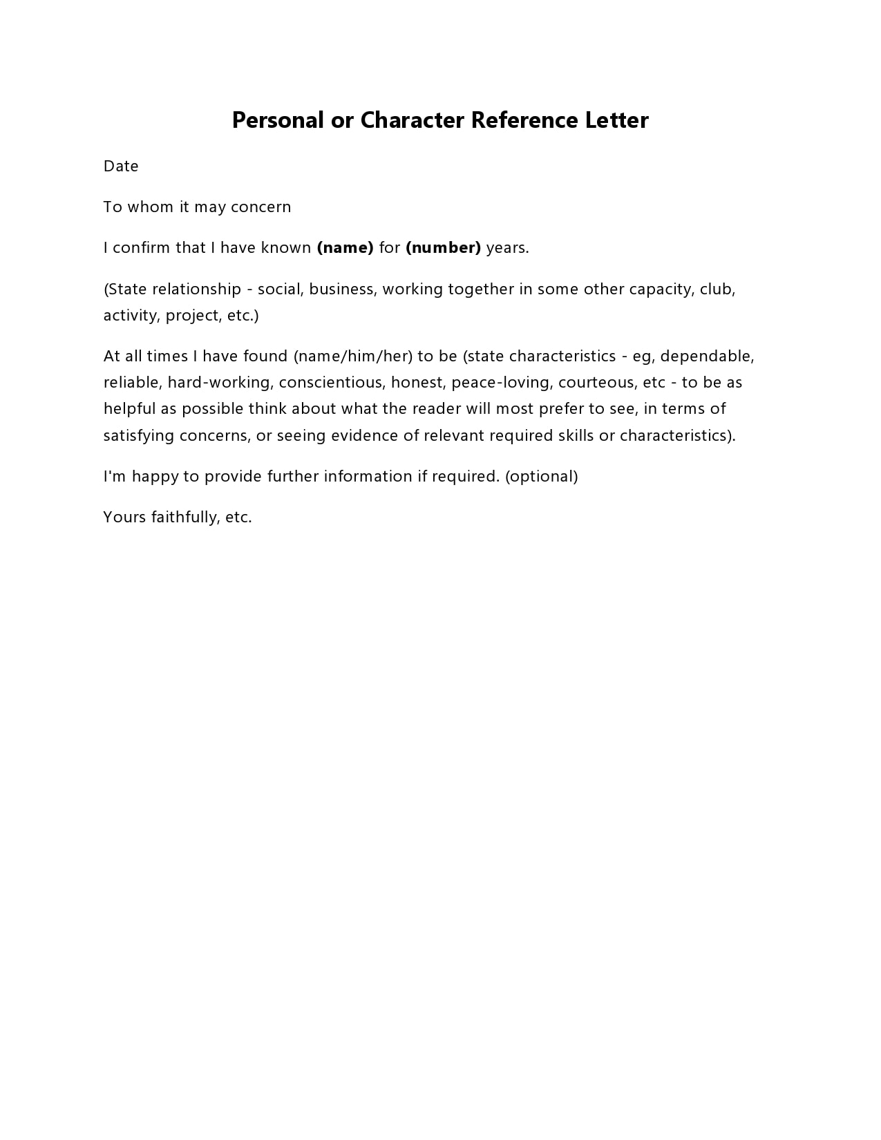 character reference letter 19