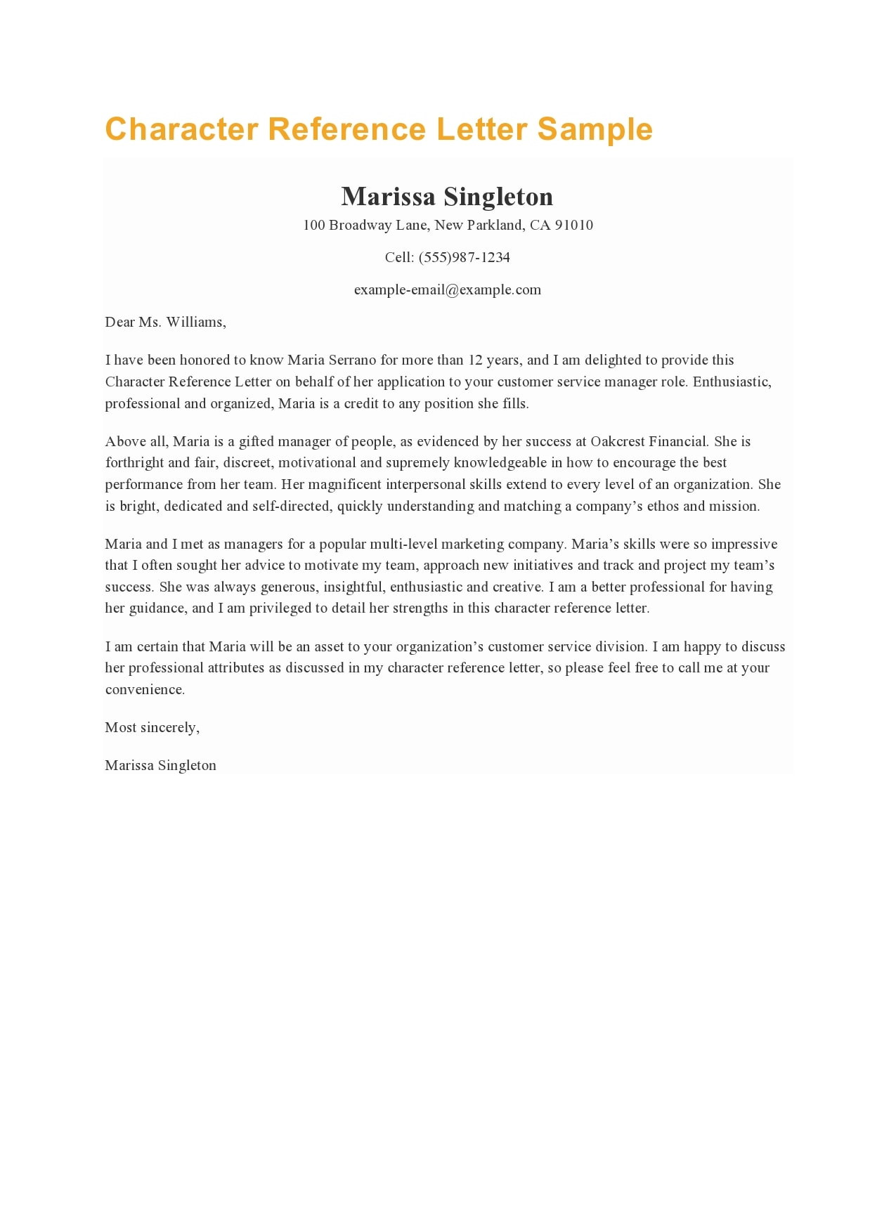 character reference letter 30