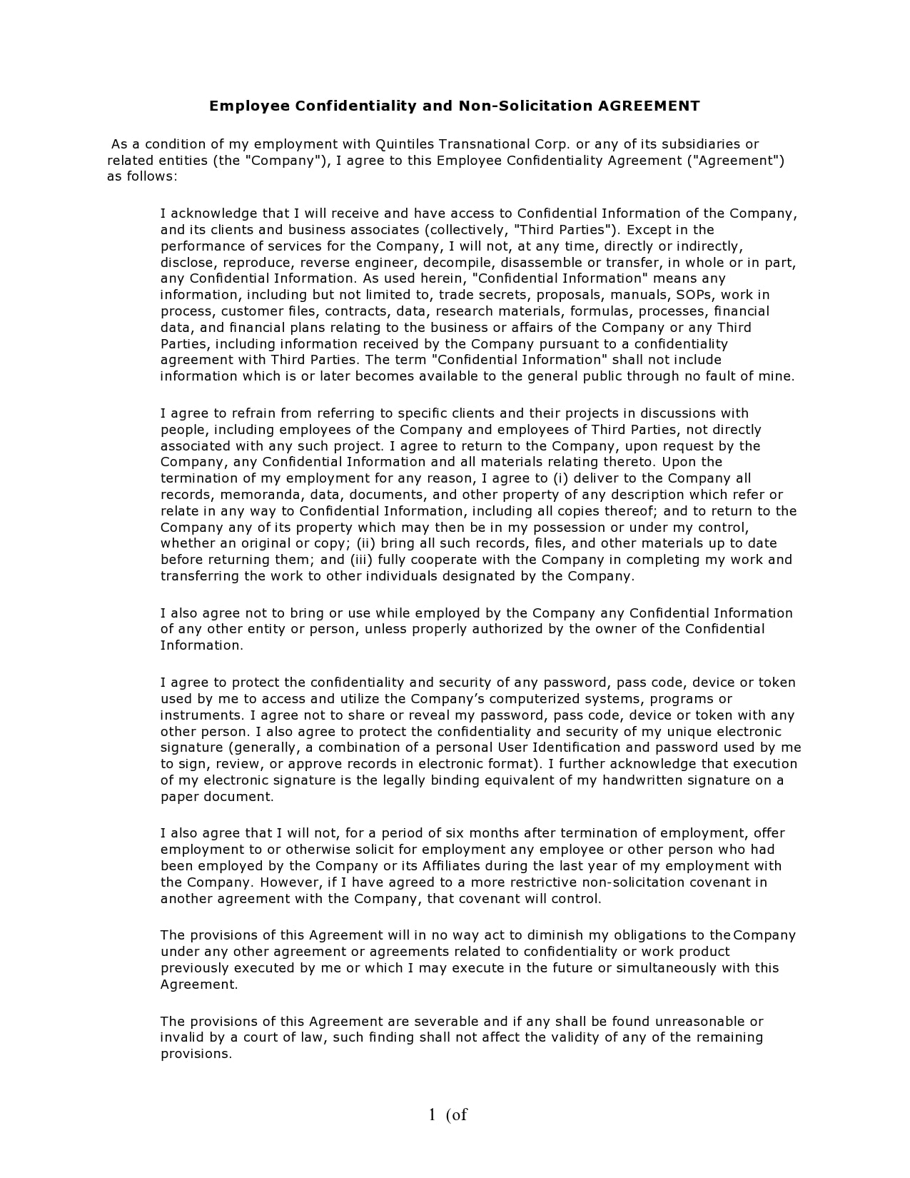 confidentiality agreement template 13