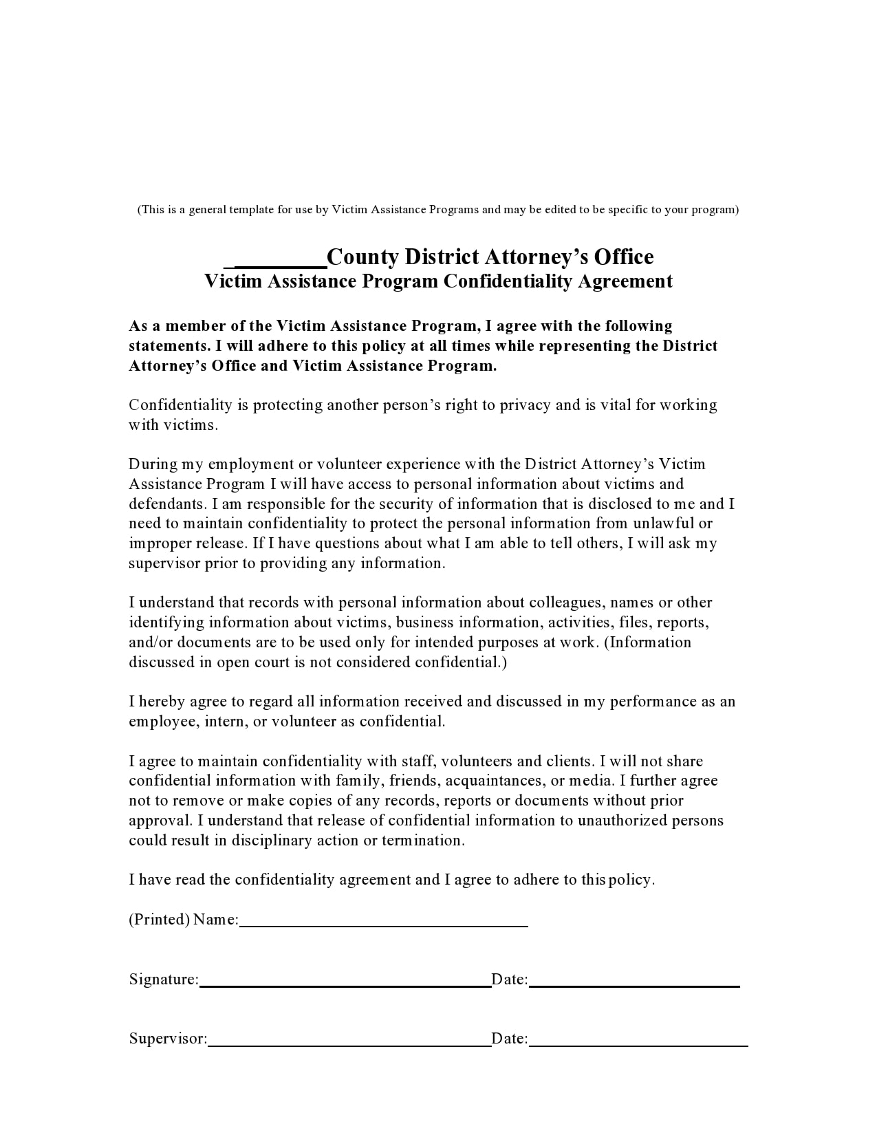 confidentiality agreement template 16