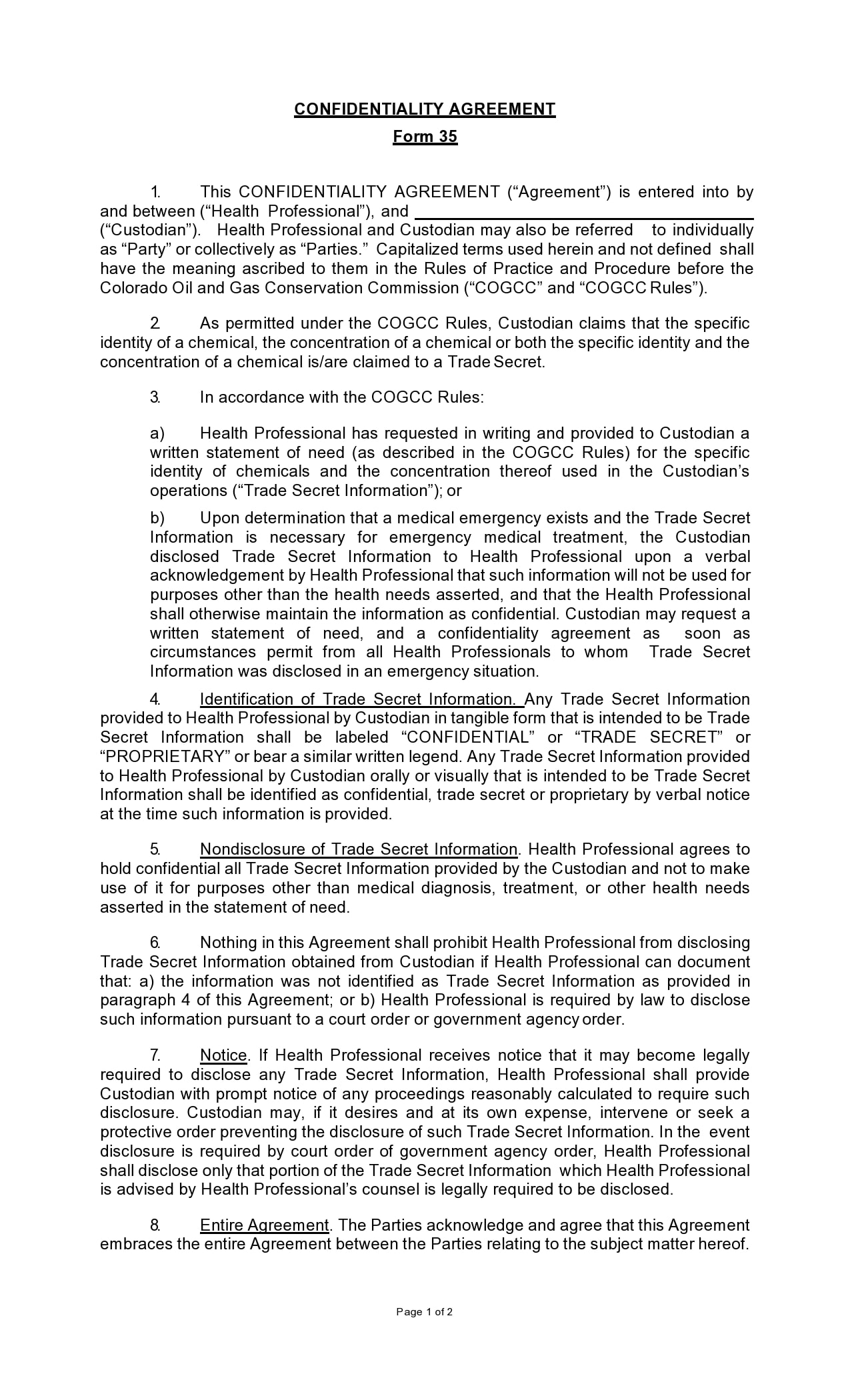 confidentiality agreement template 17