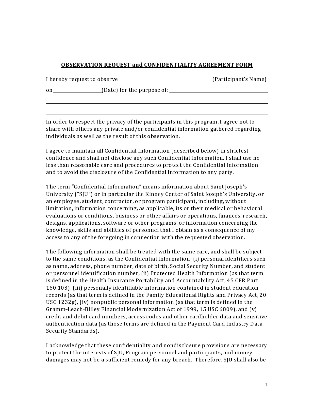 confidentiality agreement template 21