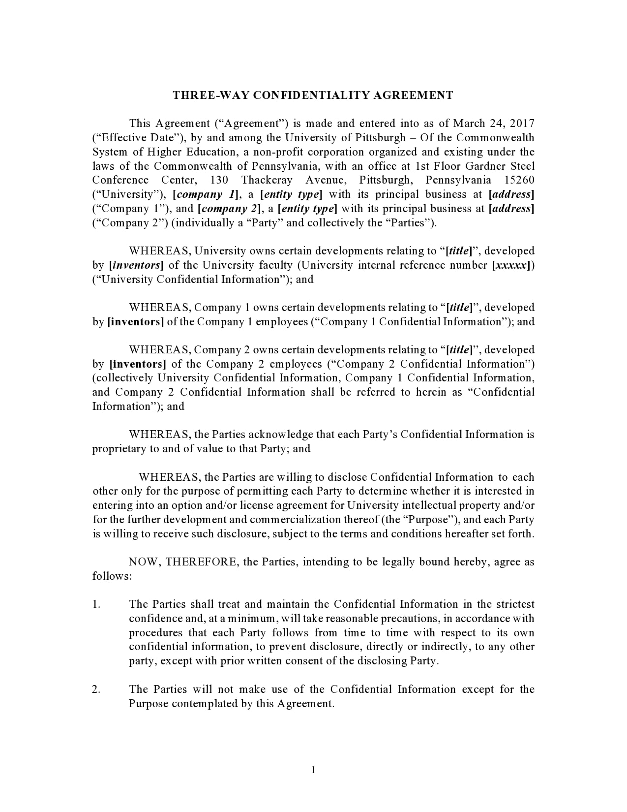 confidentiality agreement template 28