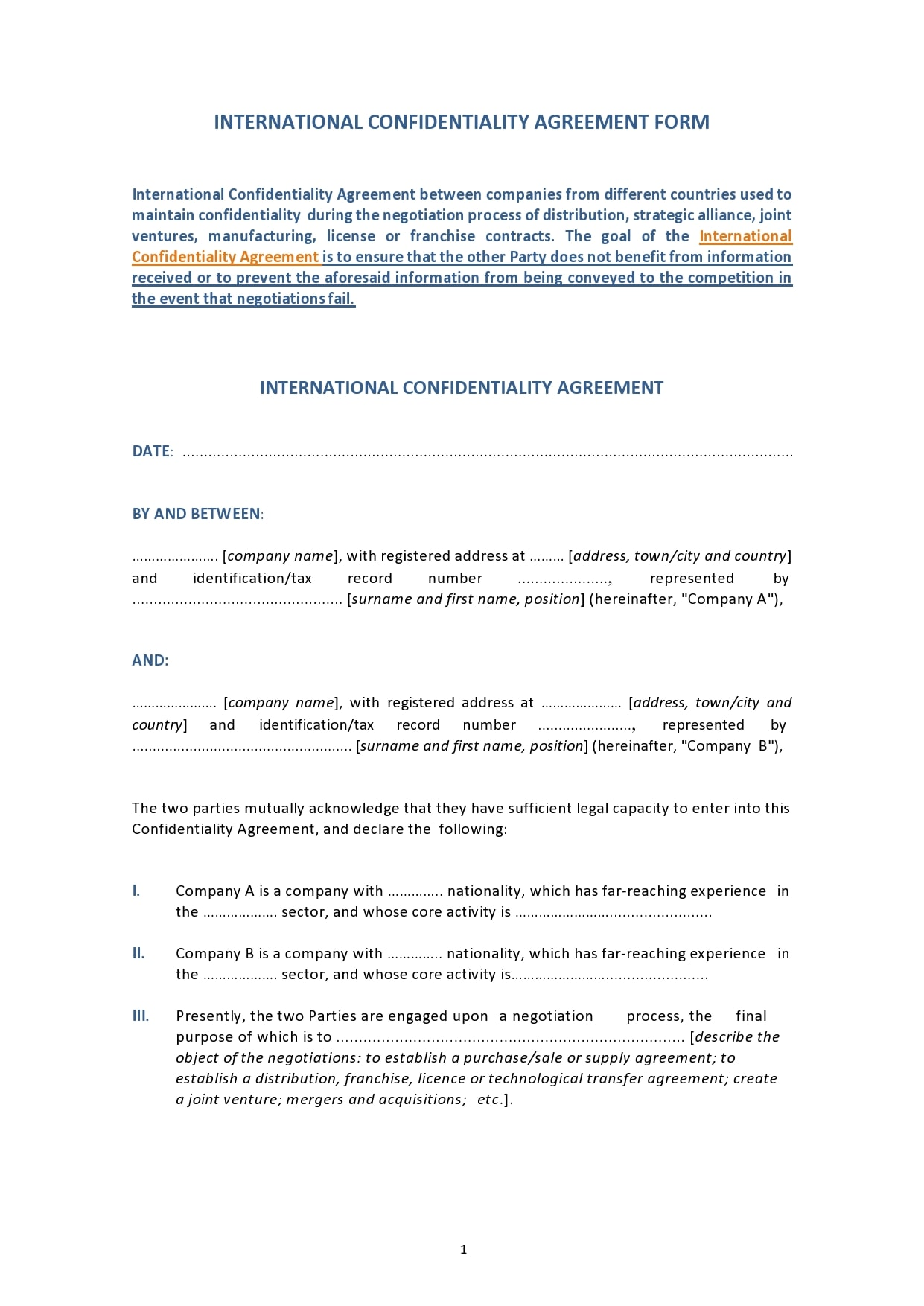 confidentiality agreement template 35