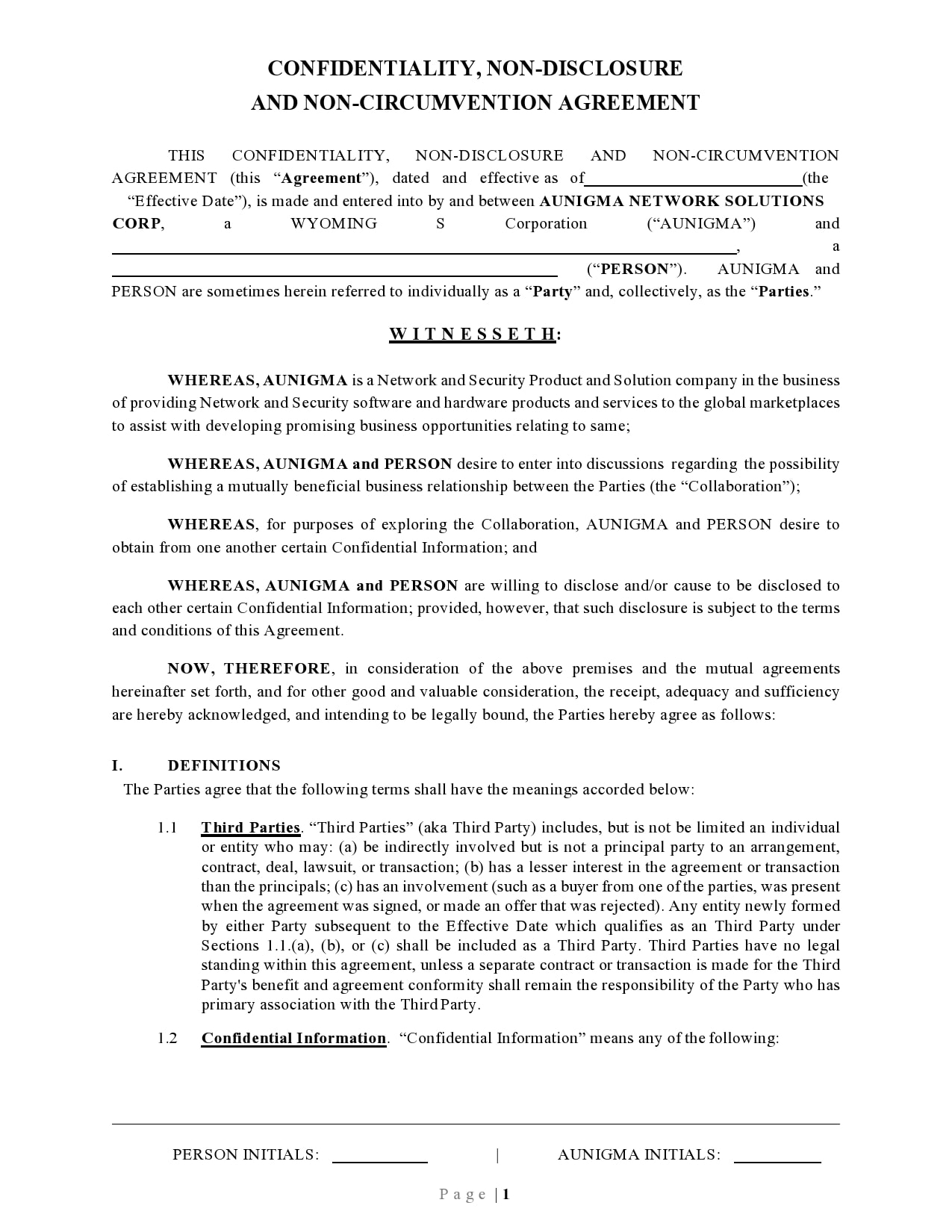 confidentiality agreement template 45