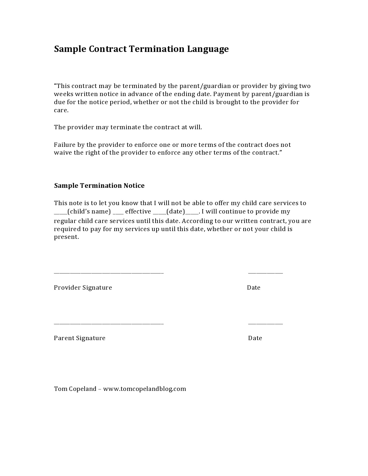 contract termination letter 11