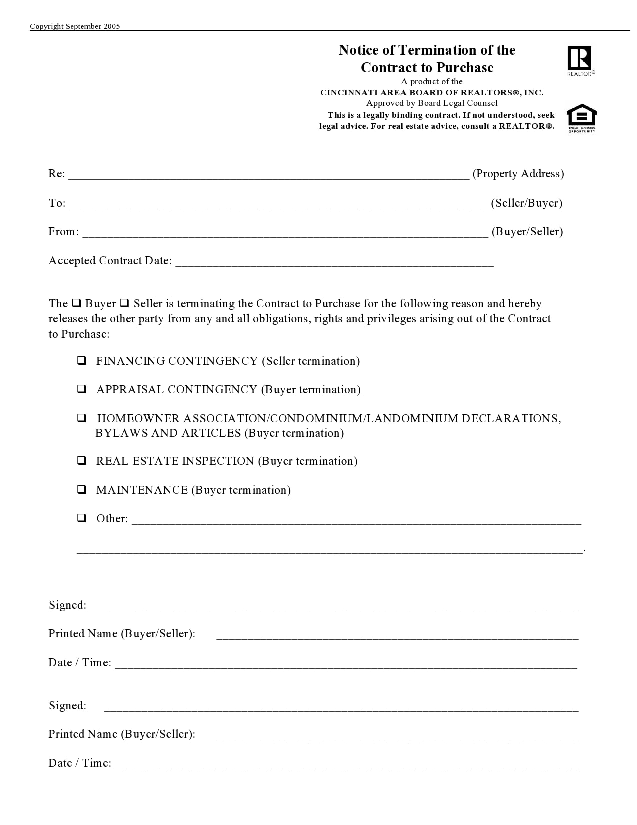 contract termination letter 12