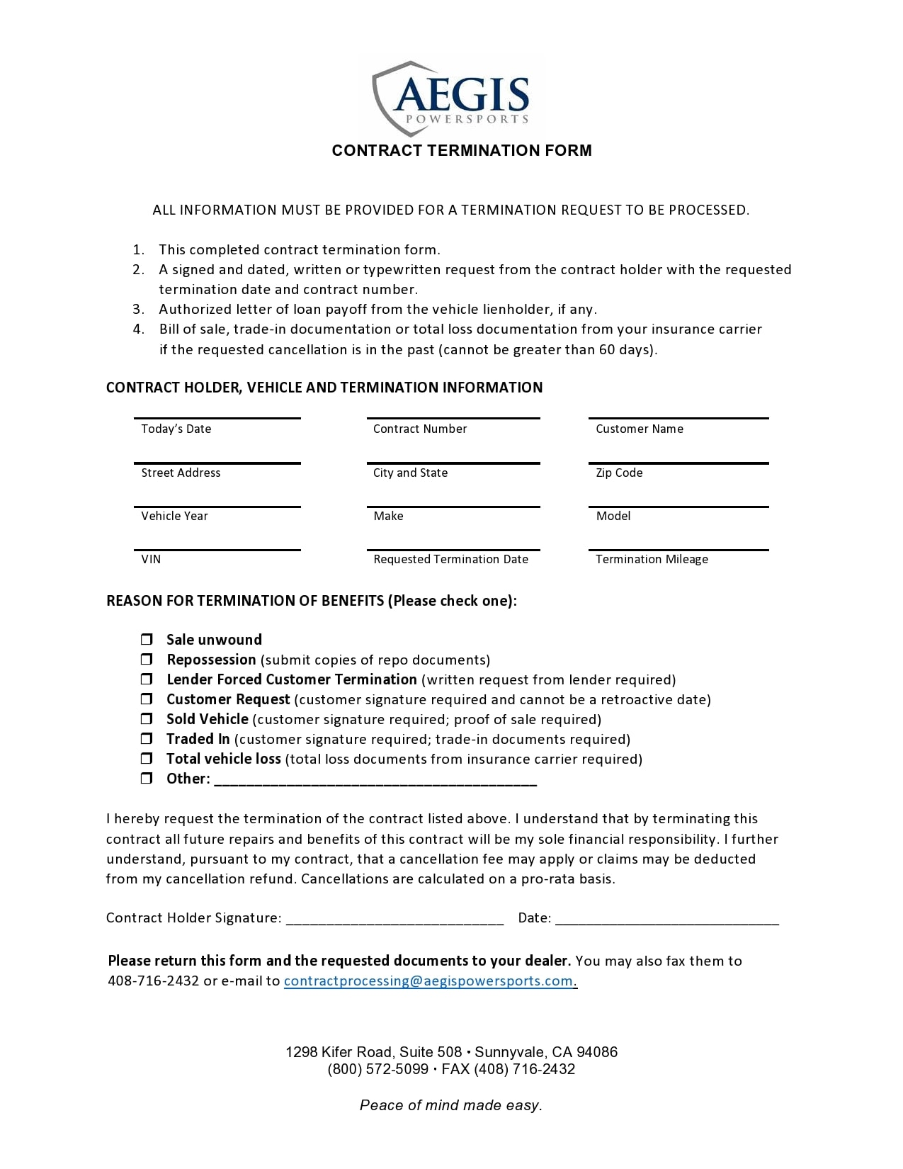 contract termination letter 15