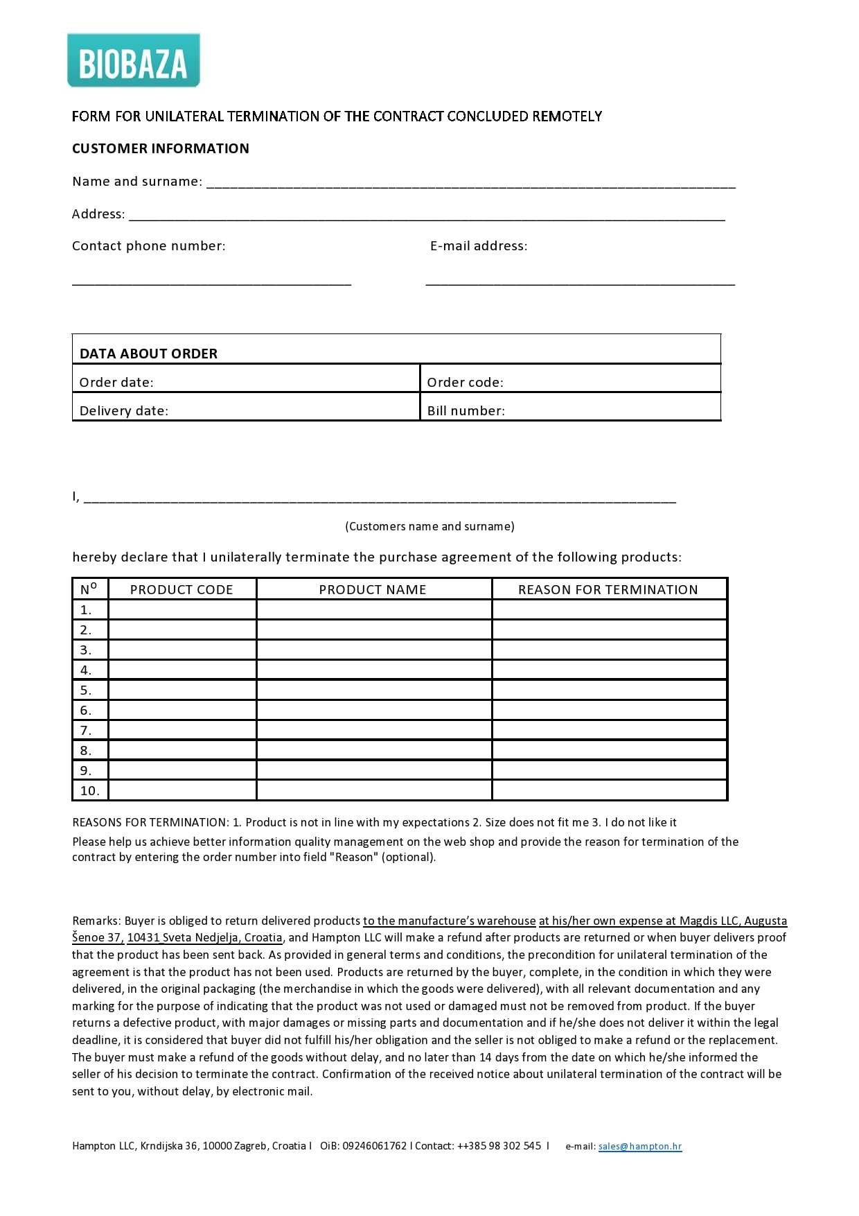 contract termination letter 22