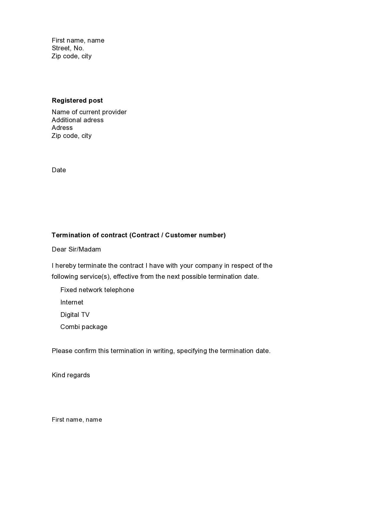 contract termination letter 26