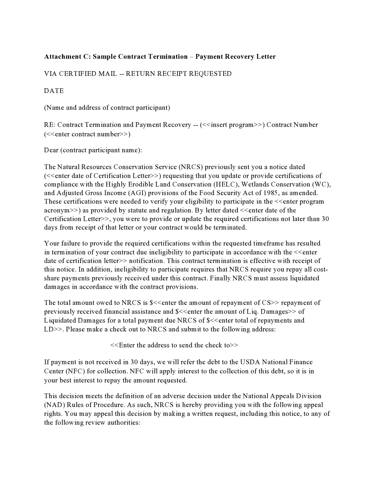 Letter For Cancellation Of Contract from templatearchive.com