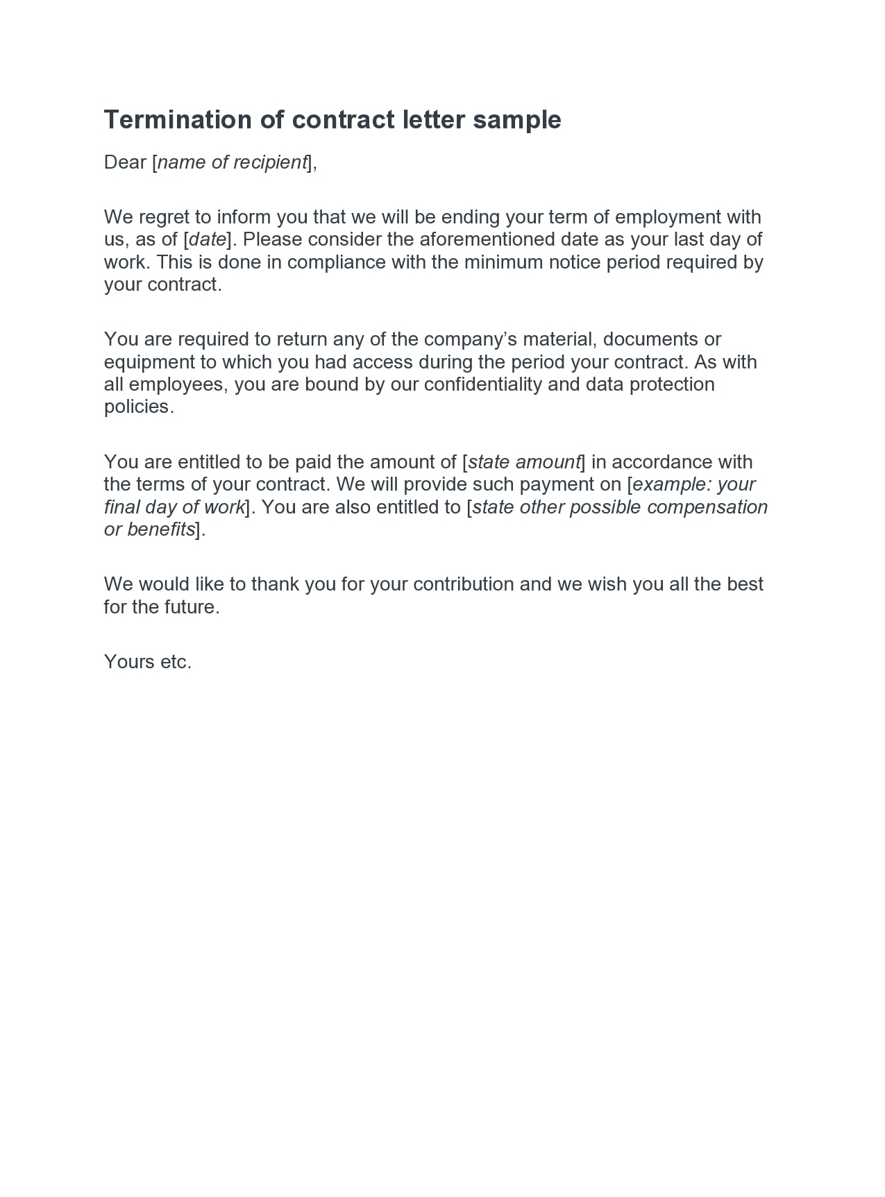 contract termination letter 34