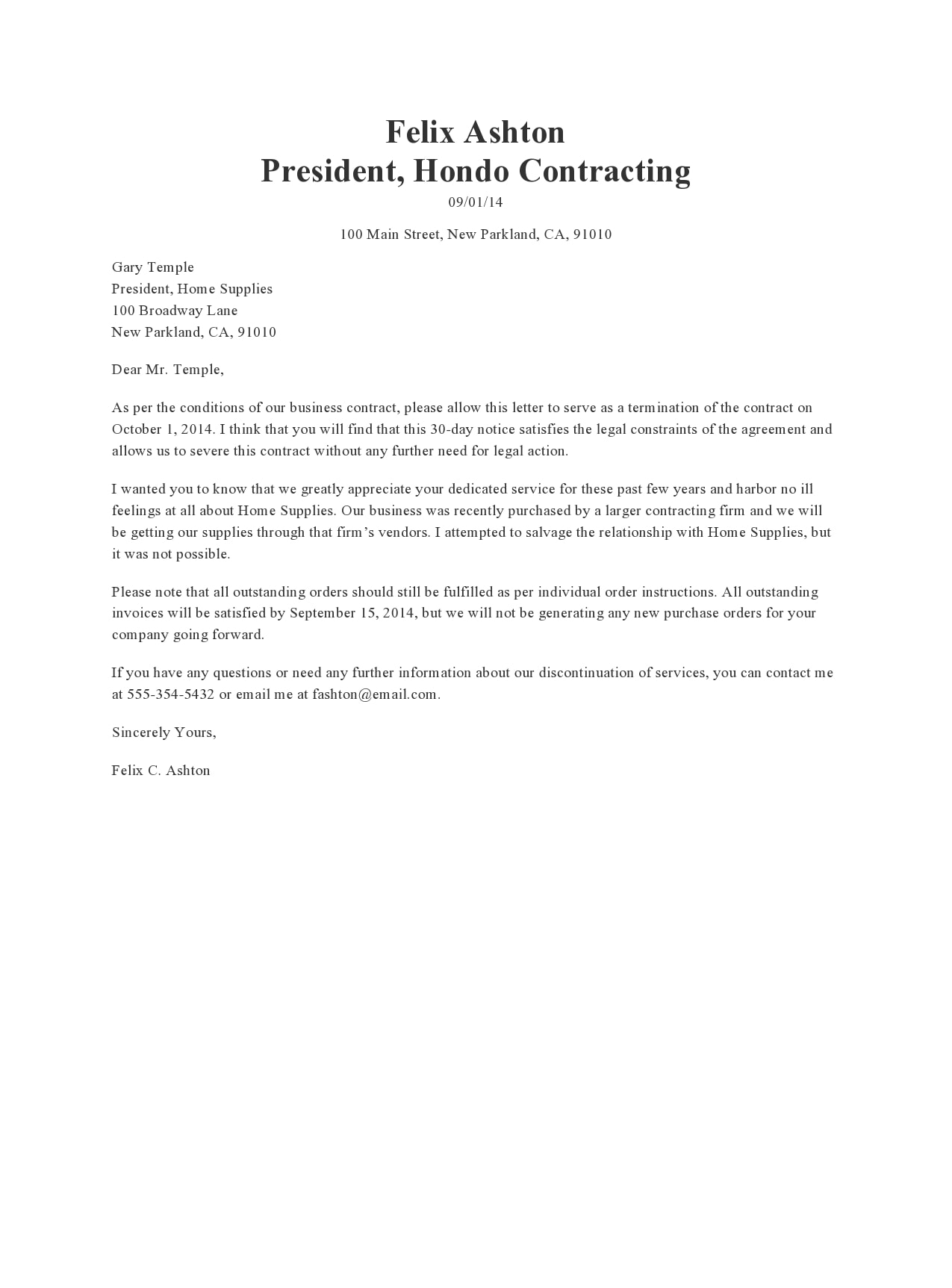 Independent Contractor Resignation Letter from templatearchive.com