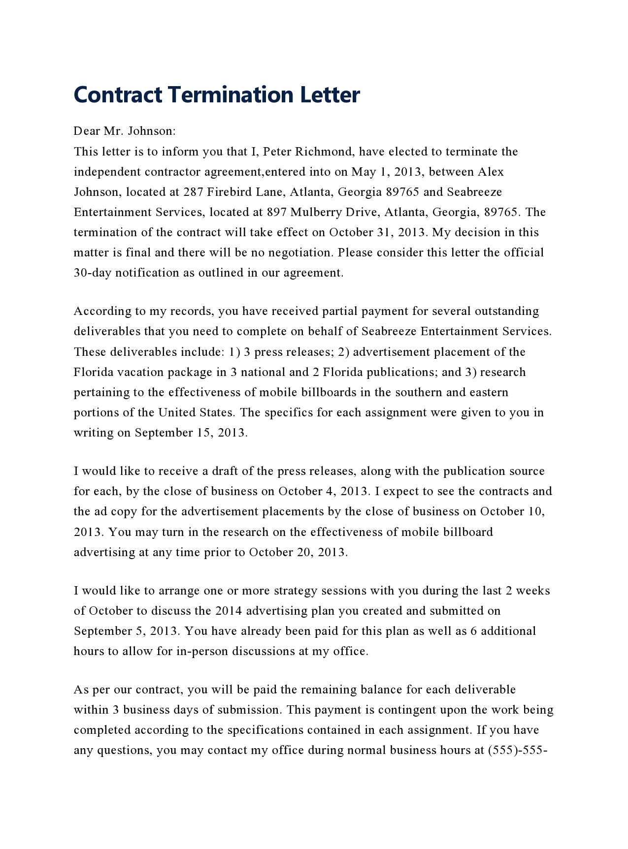 contract termination letter 38