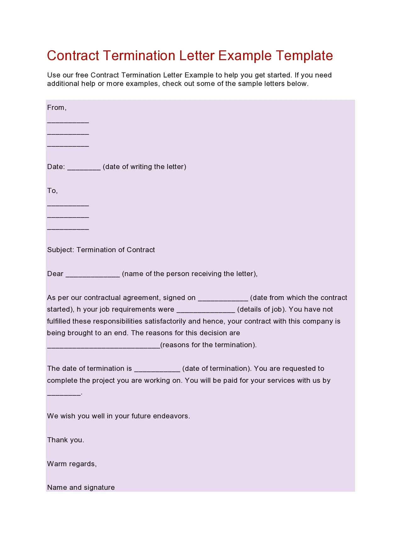 contract termination letter 39
