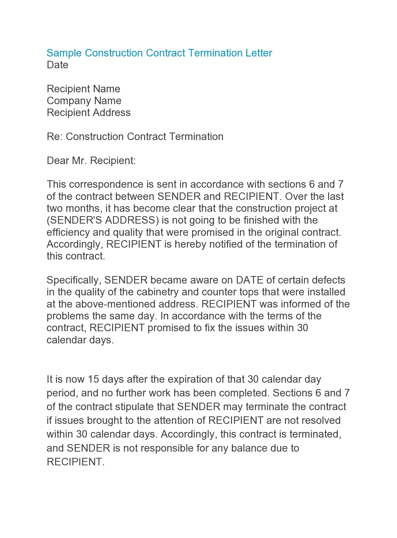 contract termination letter 41